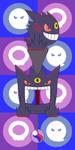 Pokemon Keyblade 094 - Mega Gengar by Gamekirby