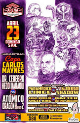 CARTEL LUCHA LIBRE 23 ABRIL B by PORTAVERITAS