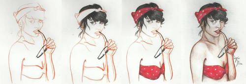 Pin-up girl tutorial by gszabi