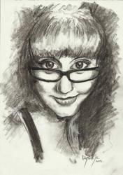 Charcoal portrait by gszabi