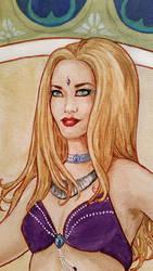 Jenn Shamsa Face Detail by laurenmegan-art