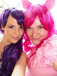 Pinkie Pie and Rarity Cosplay by Kiiku
