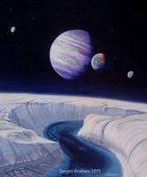 Ocean ice sheet. by SKrainev