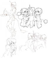 haremie sketch pile by umicorms