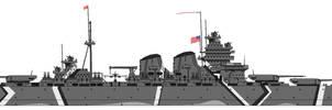 Hypothetical Battleship, 1945 by CdreJohnPaulJones