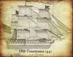 USS Constitution Antiqued by CdreJohnPaulJones