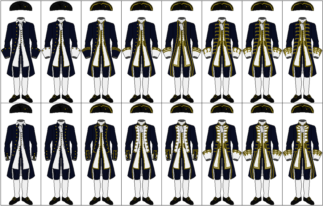 Uniforms of the Royal Navy, 1748-1767 by CdreJohnPaulJones