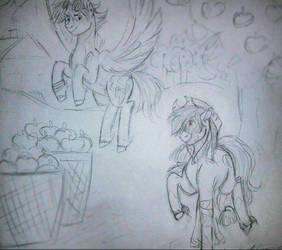 Apple Horse and Rainbow Horse by zayannet00