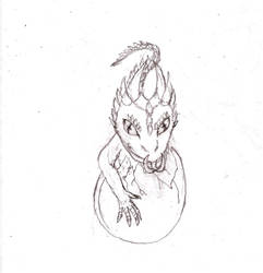 demon lizard chibi by Dukesketches