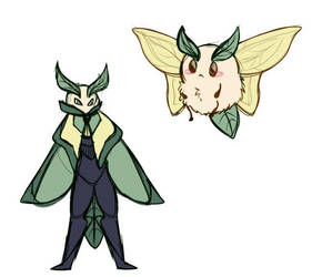 Fakemon: Mothlead and Mose by Ethmoids