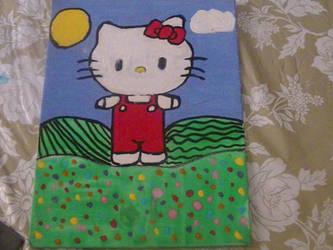 Hello Kitty in a garden by Fatimabella65