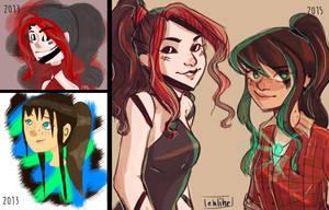 Redo: Cassie and Kayla by ReadLikeMad