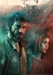 Joel and Ellie by AngelaBermudez