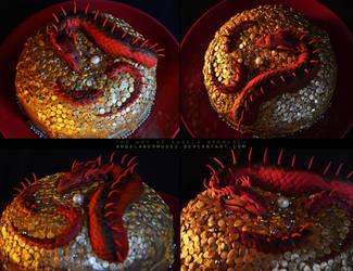 Smaug cake by AngelaBermudez