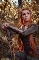 Tauriel - The Hobbit by AngelaBermudez