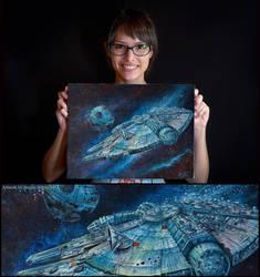 Millennium Falcon by AngelaBermudez