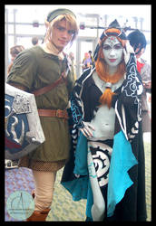 Link and Midna by AquaNinjaPirate