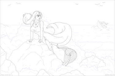 Alone in the Sea by phantom-inker
