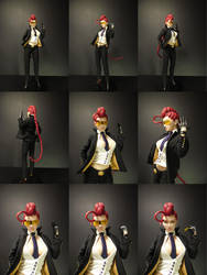 Crimson Viper 1/4 scale mixed media statue by chiseltown