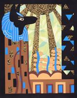 Klimt's Paper Anubis by Artymesia