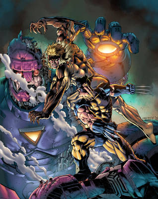 Wolverine v Sabertooth Colors by MannixFrancisco