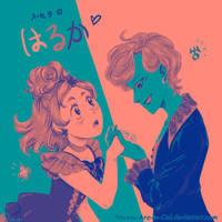 39 Hand-kissings - Palette Challenge by Pinceau-Arc-en-Ciel