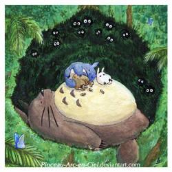 Totoro family by Pinceau-Arc-en-Ciel
