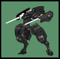 assault mech w. dual cannons by genocidalpenguin