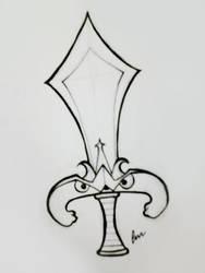 InkTober 2017 #7 - Mr. Sword by Hayme-chan