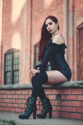 Girl in black by CeroArt