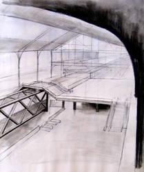 Principe Pio Station Sketch 08 by AroaY