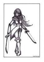 Ink fantasy: Piratess by DA-Motive