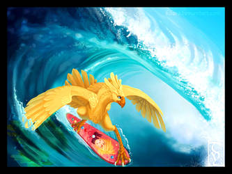 Surf De Chocobo by kilara
