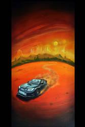 riding solo on Kepler 16b by shinius