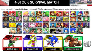 Super Smash Bros. for Wii U CHARACTER SELECT by ConnorRentz