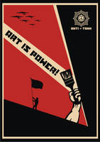 Art Is Power Flag Red by racuntikus