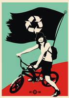 recycle biker by racuntikus