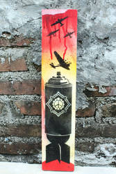 Bomb stencil wood by racuntikus