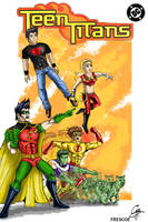 Teen Titans together by Frescoe