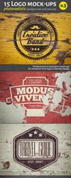 15 Logo Mock-Ups v3 by artgusart