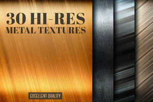 30 gold and silver metal textures by artgusart