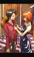 Luffy and Nami by Rebecca1029