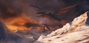 Dragon riders by thomaswievegg