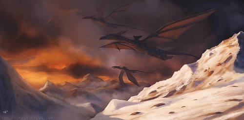 Dragon riders by thomaswievegg