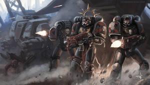 Warhammer 40K: Death Company by thomaswievegg