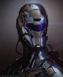 Quick scifi portrait concept by thomaswievegg