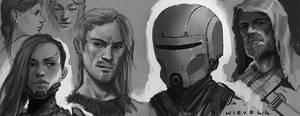 Random sketches 04 by thomaswievegg