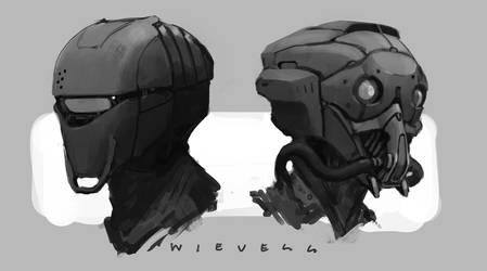 scifi helmets by thomaswievegg