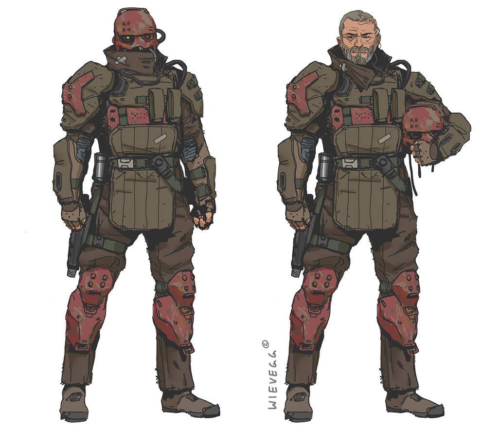 Karakk - Veteran Space Pirate by thomaswievegg