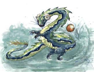 Chinese water Dragon by girlthatkickz